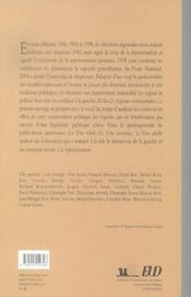 Le Vote Rebelle. Les Elections Regionales De Mars 2004 - 4ème de couverture - Format classique