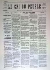 Cri Du Peuple (Le) N°41 du 11/04/1871 - Couverture - Format classique