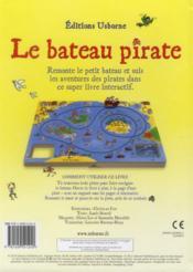 Le bateau pirate - 4ème de couverture - Format classique