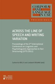 Vente  Across The Line Of Speech  - Granger