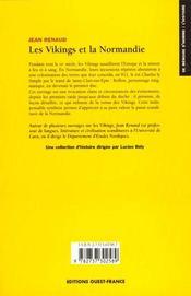 Les Vikings et la Normandie - 4ème de couverture - Format classique
