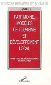 Patrimoine, Modeles De Tourisme Et Developpement Local - Intérieur - Format classique