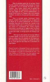 Patrimoine, Modeles De Tourisme Et Developpement Local - 4ème de couverture - Format classique