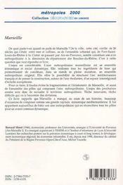 Marseille ; naissance d'une métropole - 4ème de couverture - Format classique