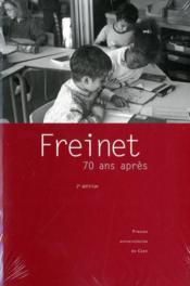 Freinet 70 ans après (2e édition) - Couverture - Format classique
