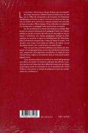 Freinet 70 ans après (2e édition) - 4ème de couverture - Format classique