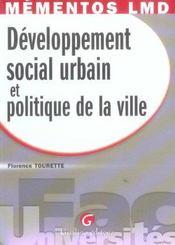 Memento : developpement social urbain et politique de la ville - Intérieur - Format classique