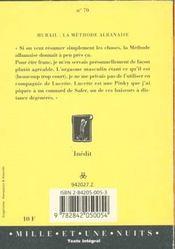 La Methode Albanaise - 4ème de couverture - Format classique