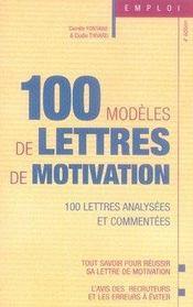 100 modèles de lettres de motivation (5e édition) - Intérieur - Format classique