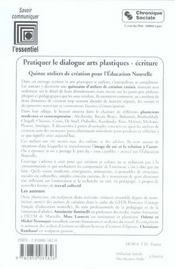 Pratiquer Le Dialogue - Arts Plastiques - Ecriture - 4ème de couverture - Format classique