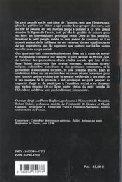 Le Petit Peuple Dans L'Occident Medieval ; Terminologie, Perceptions, Realites - 4ème de couverture - Format classique