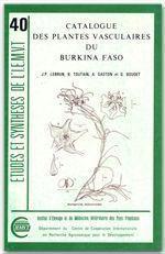 Catalogue des plantes vasculaires du Burkina Faso - Couverture - Format classique