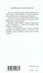 Zodiaque Amoureux - 4ème de couverture - Format classique