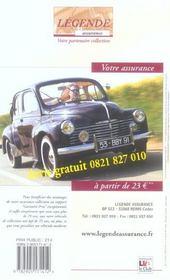 La cote de l'automobile de collection (édition 2006) - 4ème de couverture - Format classique