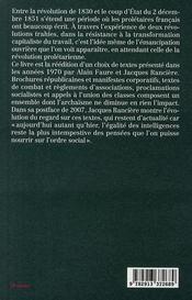 La parole ouvrière - 4ème de couverture - Format classique