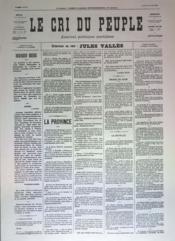 Cri Du Peuple (Le) N°42 du 12/04/1871 - Couverture - Format classique