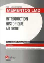 Vente  Mementos lmd - introduction historique au droit  - Pierre Allorant - Tanchou Allorant P. - Allorant P. T P.