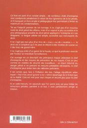La Prevention Du Risque Penal Par Le Chef D'Entreprise - 4ème de couverture - Format classique