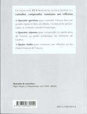 Zola L'Assommoir - 4ème de couverture - Format classique