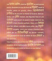 Quiches et tartes salees - 4ème de couverture - Format classique