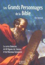 Les grands personnages de la Bible - Intérieur - Format classique