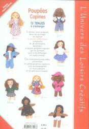 Poupées copines ; 13 tenues à s'échanger - 4ème de couverture - Format classique