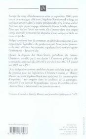 Ségolène Royal, les coulisses d'une défaite - 4ème de couverture - Format classique
