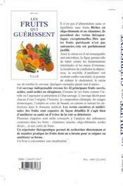 Les Fruits Qui Guerissent - 4ème de couverture - Format classique