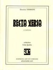Recto verso - Intérieur - Format classique