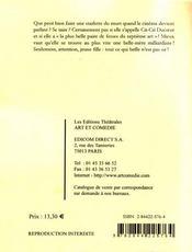 Recto verso - 4ème de couverture - Format classique