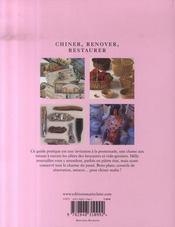 Chiner, renover, restaurer - 4ème de couverture - Format classique