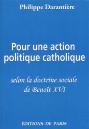 Pour une action politique catholique - Couverture - Format classique
