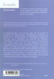 Lire Raymond Jean - 4ème de couverture - Format classique