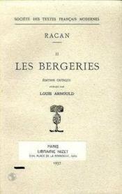 Poesies - Tome Ii: Les Bergeries - Couverture - Format classique