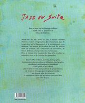 Jazz En Suite - 4ème de couverture - Format classique