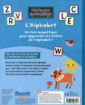 L'alphabet - 4ème de couverture - Format classique