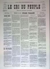 Cri Du Peuple (Le) N°43 du 13/04/1871 - Couverture - Format classique