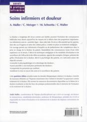 Soins infirmiers et douleur (4e édition) - 4ème de couverture - Format classique