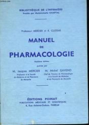 MANUEL DE PHARMACOLOGIE. 8e EDITION. - Couverture - Format classique