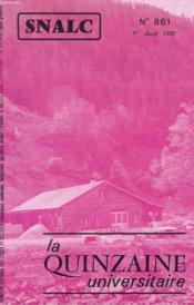 La Quinzaine Universitaire N°861 - Couverture - Format classique