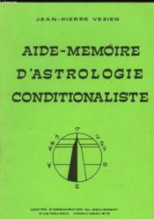 Aide-Memoire D'Astrologie Conditionaliste - Couverture - Format classique