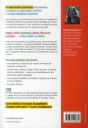 Guide pratique des compléments alimentaires - 4ème de couverture - Format classique
