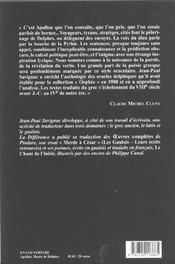 Les oracles de delphes - 4ème de couverture - Format classique