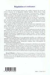 Regulation Et Croissance Une Macroeconomie Historique - 4ème de couverture - Format classique