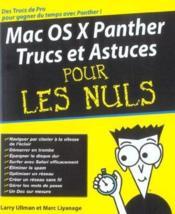 Mac os x panther, trucs et astuces pour les nuls - Couverture - Format classique