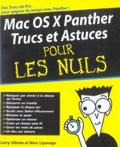 Mac os x panther, trucs et astuces pour les nuls - Intérieur - Format classique