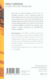Le Petit Vieux Des Batignolles - 4ème de couverture - Format classique