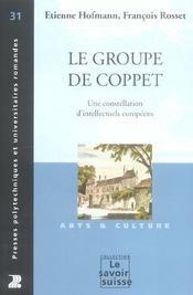 Le Groupe De Coppet. Une Constellation D'Intellectuels Europeens. Art&Culture - Intérieur - Format classique