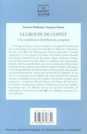 Le Groupe De Coppet. Une Constellation D'Intellectuels Europeens. Art&Culture - 4ème de couverture - Format classique