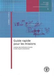 Guide rapide pour les missions analyse des institutions locales et des moyens d'existence - Couverture - Format classique